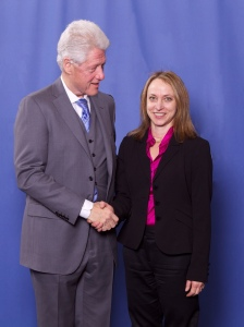 President Bill Clinton and Sheryl Chamberlain at 2011RSA Conference