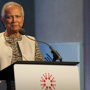 Muhammad Yunkus, 2006 Nobel Peace Prize winner and 2013 Hult Prize Finals Judge