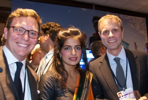 Peter R. Russell, Director of Corporate Relations, Hult Business School, Akanksha Hazari 2011 Hult Prize Winner & Phillip Hult Co-CEO, EF Education First